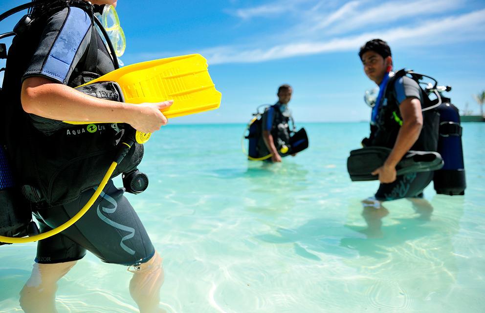 sea diving experience at Ayada Maldives resort