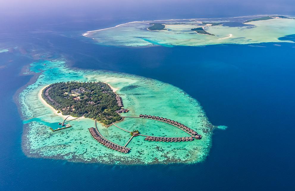aerial view of Ayada Maldives resort