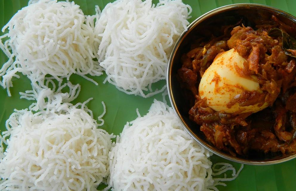 idiyappam, a food from kerala