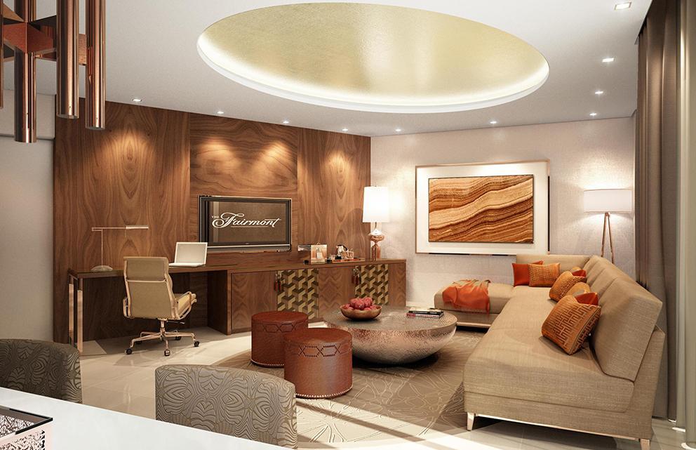 fairmont ajman hotel room interior